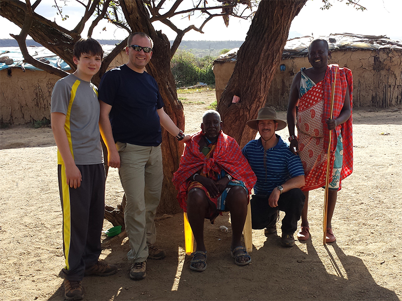 Clifford-Yantz-with-Matt-Maloney-and-Son-with-Maasai-Elder