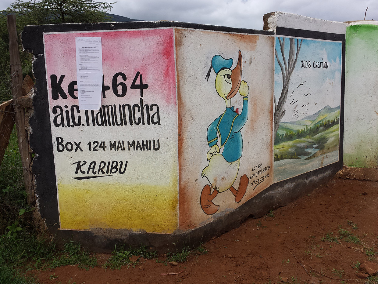 AIC-Namuncha-Child-Development-Center-entrance-of-Kenya-back-of-faith-mural-at-entrance-of-center-compound