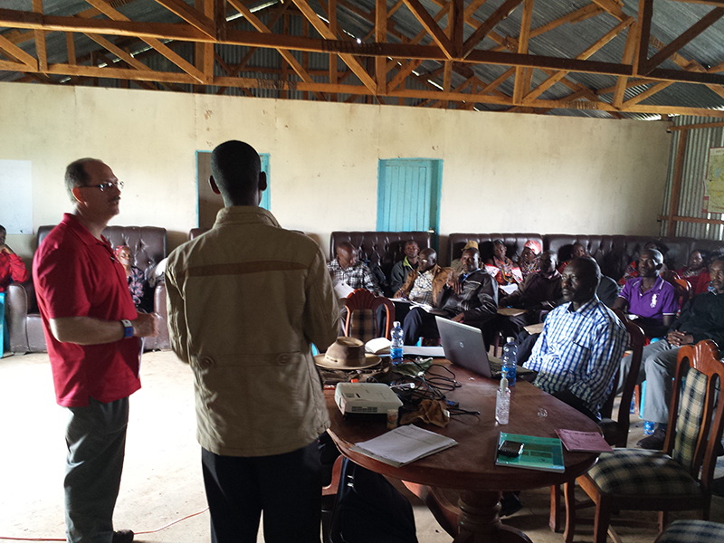 Clifford-Yantz-giving-the-Hydrogeology-for-the-Maasai-WRUA-training-presentation
