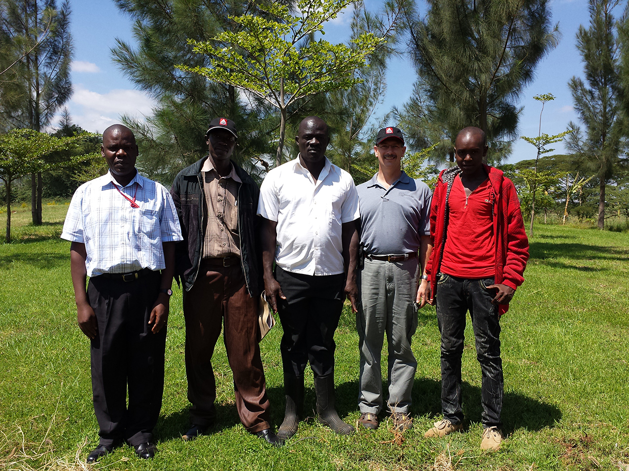 Ewuaso Water Treatment Co Management Team with Cliff and Solomon group